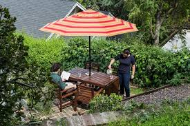 Striped Patio Umbrella The Best Patio Umbrella And Stand Reviews By Wirecutter A New