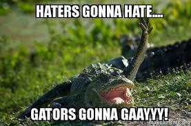Gator Meme - haters gonna hate gators gonna gaayyy gay gator make a meme
