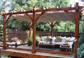 Pergola With Awning by The Pergola Functional Architecture For Your Backyard Living