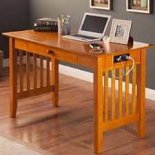 writing desk with power outlet wayfair