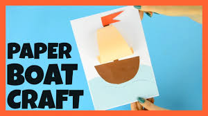 simple paper boat craft for kids summer craft idea youtube