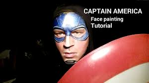 captain america makeup face paint tutorial for halloween youtube