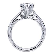 cathedral solitaire engagement ring 18k white gold solitaire engagement ring wedding day diamonds