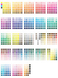 word pantone color chart template download