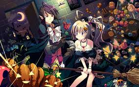 halloween background anime cg fantasy illustration 11122 anime comic cartoon illustration
