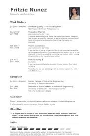Engineering Resumes Examples by Quality Assurance Engineer Resume Samples Visualcv Resume
