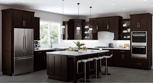 espresso kitchen cabinets with white countertops factory direct rta kitchen cabinets for sale