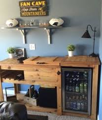 outdoor rustic wooden cooler bar buffet sideboard serving