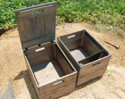 Reclaimed Wood File Cabinet Wood File Crate Etsy