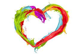 paint splash colors heart design paint spray heart hd wallpaper