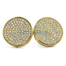 circle earrings jumbo circle gold micro pave cz bling bling earrings custom gold