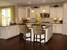 dark brown kitchen cabinets with white island dark kitchen