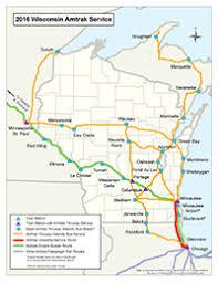 amtrak map usa wisconsin department of transportation amtrak passenger rail service