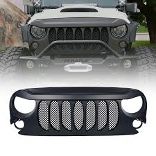 jeep bumper grill jeep beast grille with mesh 2007 2017 wrangler jk xprite