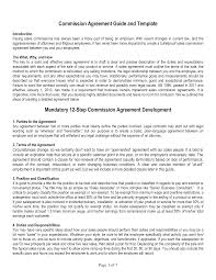 Agreement Letter Template Between Two Parties Sales Commission Agreement Template Freewordtemplates Net