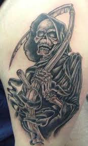 tattoo art death tattoos grim reaper tattoos themes and meanings