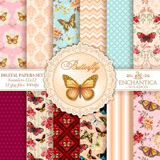butterfly digital papers papel digital mariposas mariposas papel