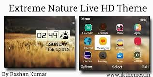 windows 10 themes for nokia asha 210 extreme nature live hd theme for nokia c3 00 x2 01 asha 200 201