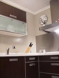 mosaique credence cuisine mosaïque émaux de verre blanc cassé par plaque de 33 5 par 33 50