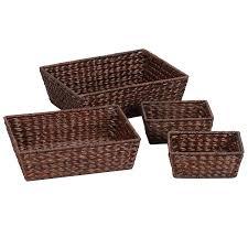 Rattan Baskets by Amazon Com Household Essentials Ml 6695b Set Of 4 Wicker Storage