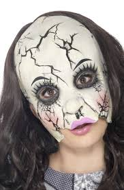 China Doll Halloween Costume Women U0027s Evil Doll Costume Mask Dead Dolly Horror Latex Mask