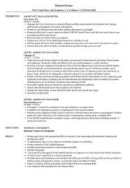 assistant manager resume hotel assistant manager resume sles velvet