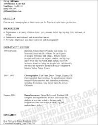 New Teacher Resume Sample by Dance Teacher Resume Berathen Com