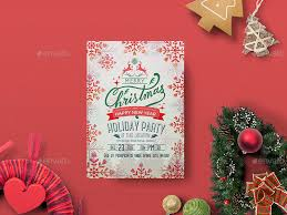 christmas flyer template holiday joy and cocktails custom themed