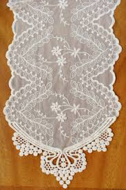 ivory lace table runner ivory lace runner 74in