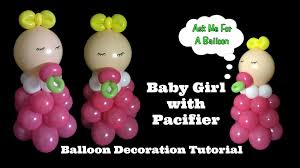 baby with pacifier balloon decoration tutorial youtube