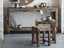 Reclaimed Wood Console Table Enchanting Reclaimed Console Table With Bleecker Modern Rustic