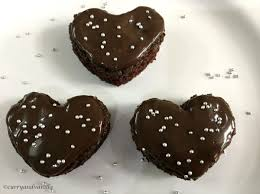 heart shaped chocolate mini heart shaped chocolate cake bites curry and vanilla
