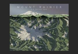 Mt Diablo State Park Map by Mount Diablo Topo Map Art California State Park Danville