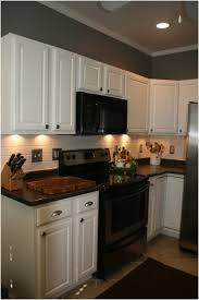 kitchen alluring painted kitchen cabinets with black appliances