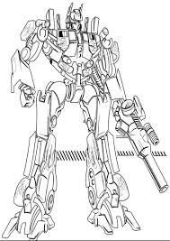 transformer coloring pages optimus prime robot coloringstar