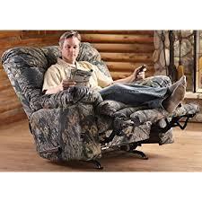 amazon com cloud nine camo rocker recliner mossy oak kitchen
