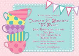 Unique Birthday Invitation Cards Tea Party Invitations Neepic Com