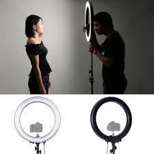 circle light for video neewer 75w fluorescent ring light lighting kit for portrait