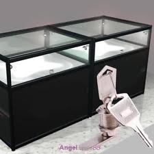 Glass Cabinet With Lock Cabinet Display Case Showcase Sliding Glass Door Lock Ebay