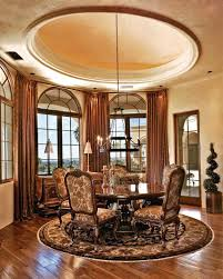 recessed dome ceiling in the breakfast area remove the brass window treatments for arched dining room windows