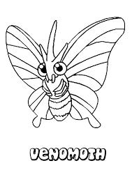 venomoth coloring pages hellokids com