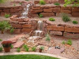 Backyard Slope Landscaping Ideas 22 Beautiful Waterfalls For Natural Backyard And Front Yard Ladscaping