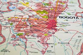 Bogota Colombia Map South America by Road Map Of Bogota City In Colombia Stock Photo Picture And