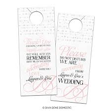 wedding door hanger template wedding door hanger template bridal ideas door