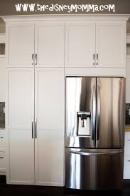 Pantry Decorating Ideas White Kitchen Cabinets Lg French Door Refrigerator With Hidden