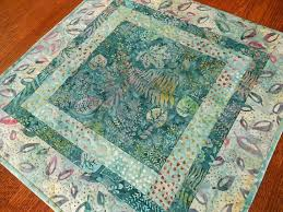 quilted square table toppers quilted square table topper in teal aqua purple and pink my etsy
