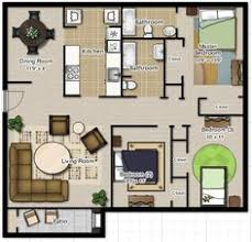 House Plans And Designs For 3 Bedrooms Floor Plan For A Small House 1 150 Sf With 3 Bedrooms And 2 Baths