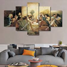 jesus christ wall art framed canvas print the last supper