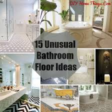 cheap bathroom flooring ideas 15 bathroom floor ideas diy home things