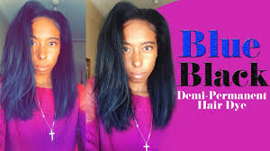 purple rinse hair dye for dark hair relaxer demi permanent midnight blue black tutorial ion color